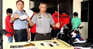 kapolsek panyabungan dan pelaku yang ditangkap