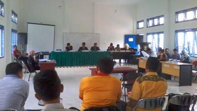 Sidang sengketa pilkada Madina yang dilaksanakan Panwaslih