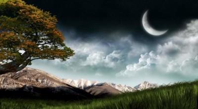 bulan sabit dan alam