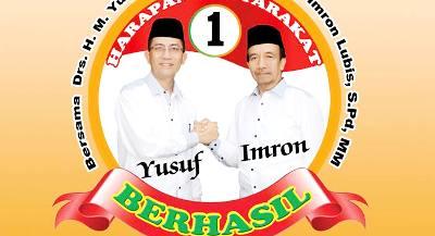 Yusuf Nasution-Imron Lubis dengan latar nomor 1