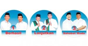 baliho tiga pasangan calon bupati/wakil bupati Madina