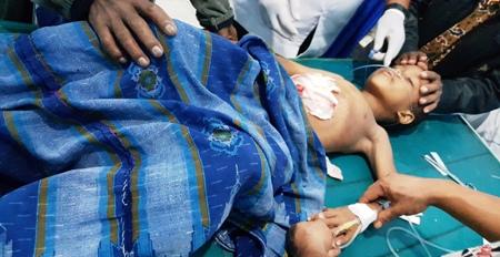 Mairajo Matondang yang kritis saat ditangani dokter