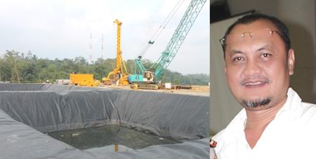 Kolam penampungan air untuk pengeboran PT.SMGP dan Ali Mutiara