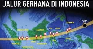 Jalur gerhana total  9 Maret 2016