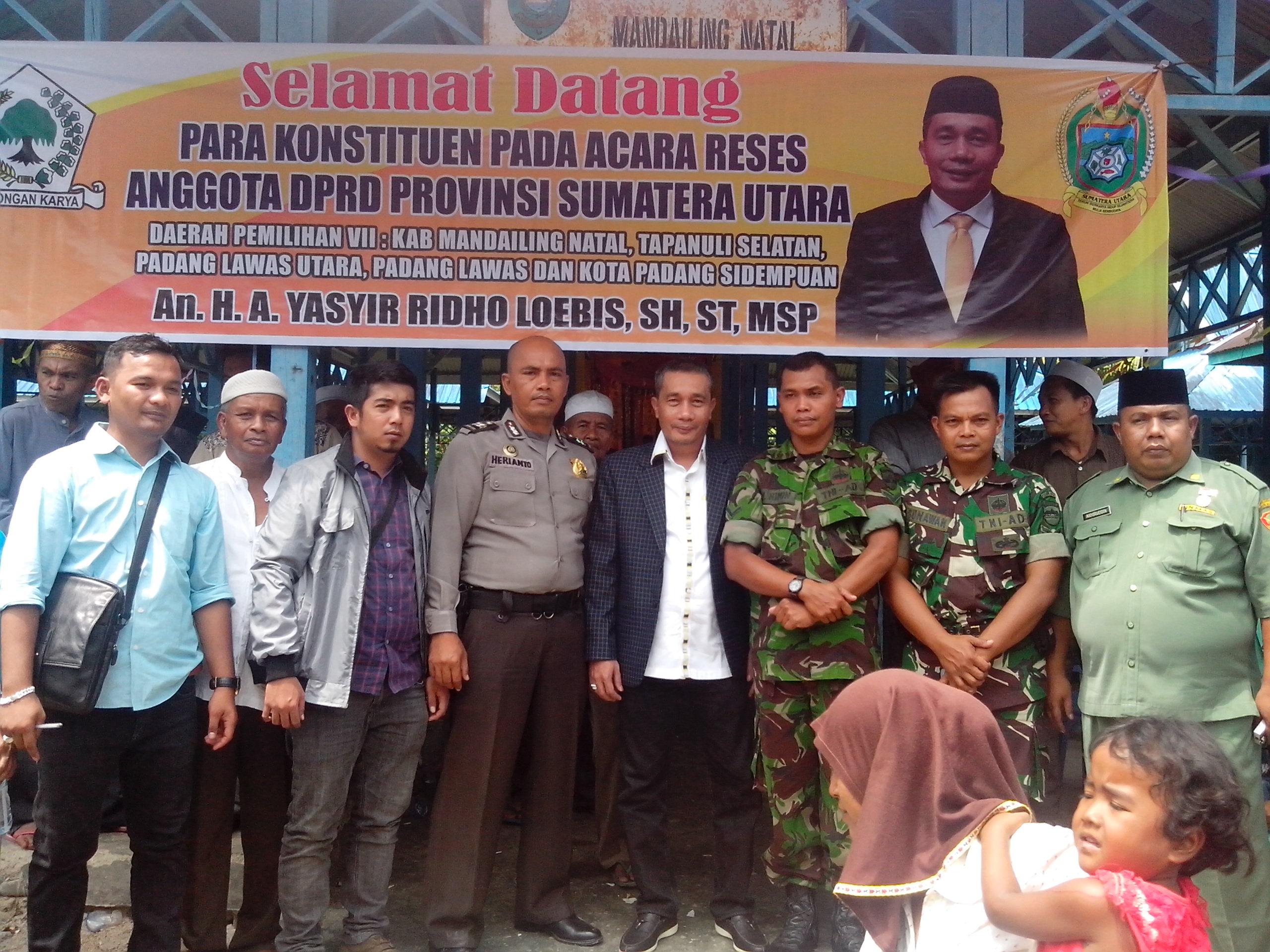 Reses Anggota DPRD Provinsi H.A.Yasir Ridho Lubis, SH, ST, MSP (1)