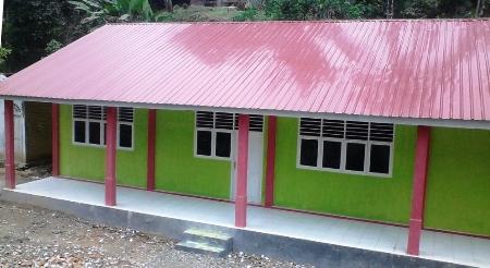 Gedung madrasah di Desa Ranjau Batu