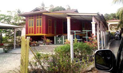 Salah satu model rumah di Kampung Baru Lanjut Manis