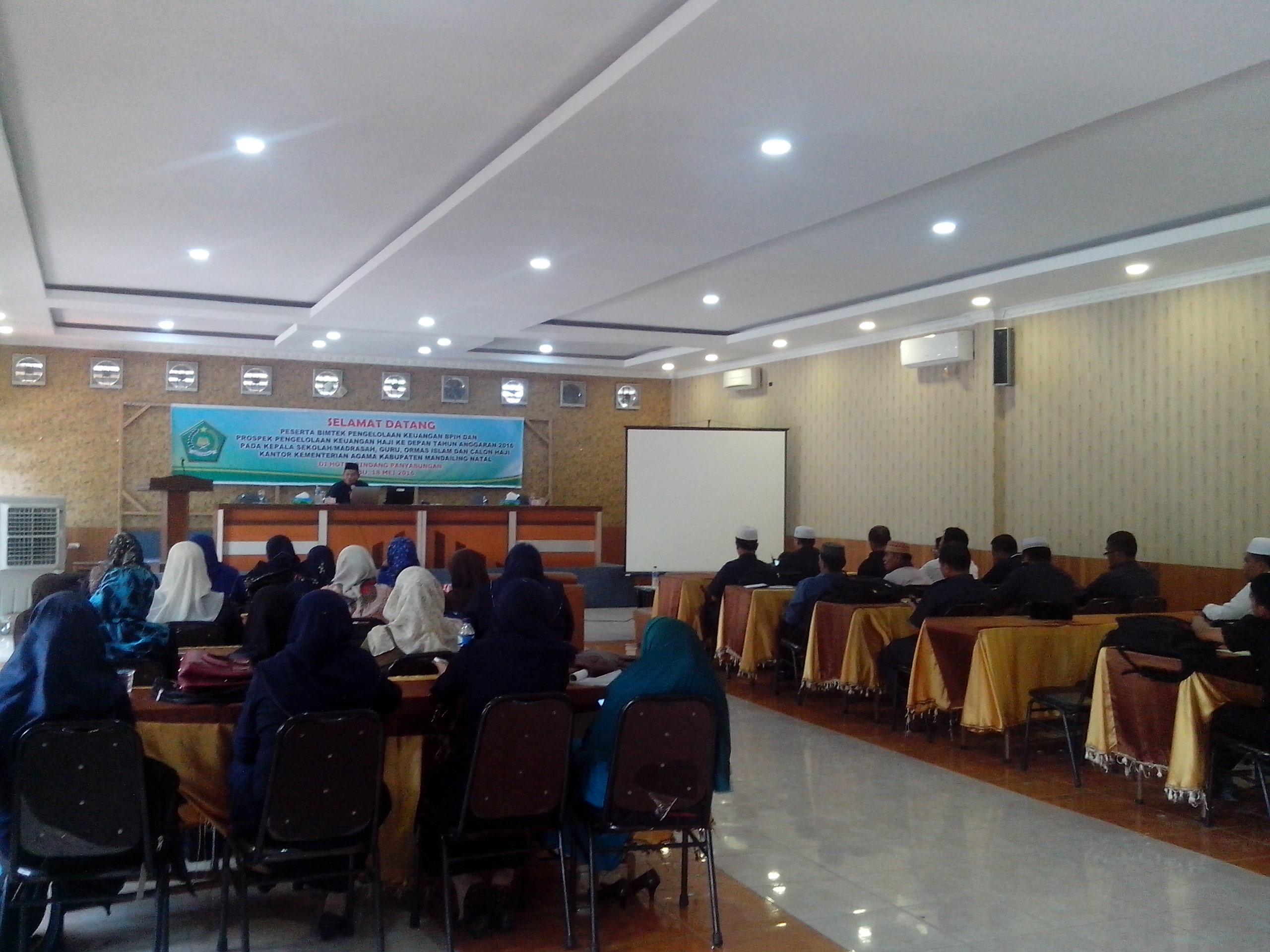 Kemenag Madina Adakan Bimtek Pengeloalaan Keuangan Haji (1)