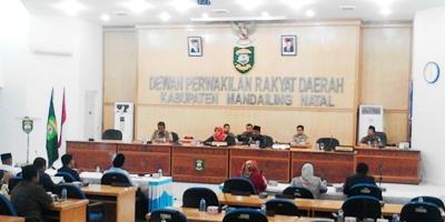 Rapat Paripurna DPRD Madina tentang LKPJ bupati yang ditunda