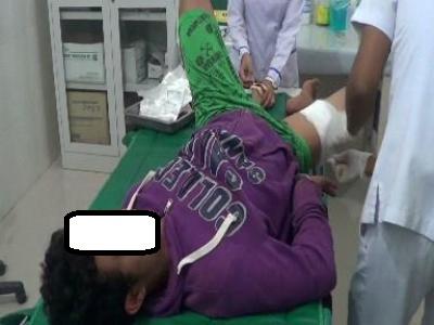 RAS saat pengobatan luka tembak di RSU Panyabungan