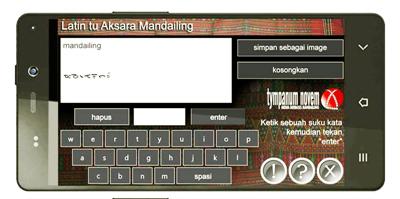 Aplikasi android Latin tu Mandailing produksi Tympanum