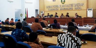 Pembahasan serapan APBD 2016 di DPRD Madina