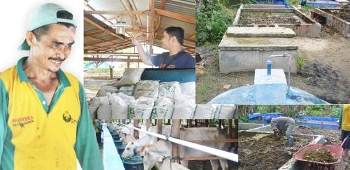 Adar Mulo Rangkuti dan usaha yang dikelolanya bersama teman-temannya di Desa Rumbio