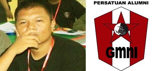 Sadrak Pasaribu dan logo PA GMNI